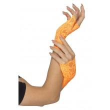 Näthandskar Korta Orange