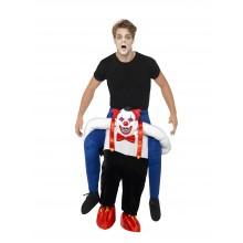Ridande Ond Clown Maskeraddräkt