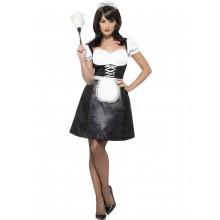 Frenchmaid Maskeraddräkt med klänning