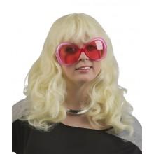 Blond Långt Vågigt Hår Peruk