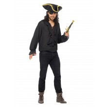 Piratskjorta Svart