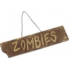 Skylt Zombies
