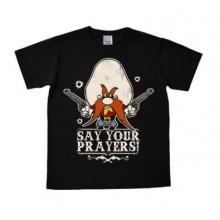 Looney Tunes Say Your Prayers T-Shirt Slim Fit Svart