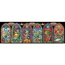 The Legend of Zelda Färgat Glas Poster