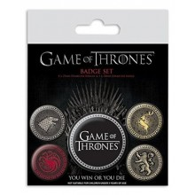 Game of Thrones Badges 5 st