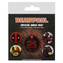 Deadpool Badges 5-pack