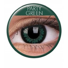 Färgade linser big eyes party green