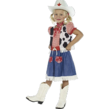 Cowgirl sötnos-barndräkt