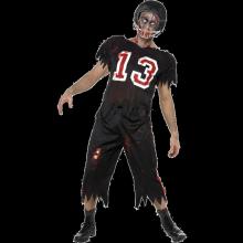 Zombie Amerikansk Fotbollsspelare Maskeraddräkt
