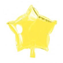 Folieballong Stjärna Gul