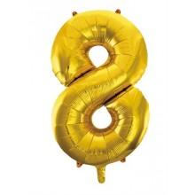 Jumbo Sifferballong 86 cm Guld 8
