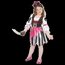 Rosa Piratdräkt Tjej