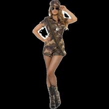 Cool Militärtjej Kostym
