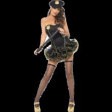 Sexig-Tyllklänning-Polisuniform
