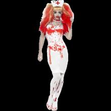 Blodig Sjuksköterska Maskeraddräkt