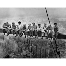 Lunch atop a Skyscraper Poster