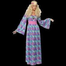 60 tal Hippie Flowepowerklänning Maskeraddräkt Dam