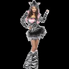 Fever Zebra-dräkt dam