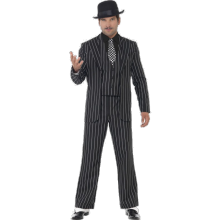 Vintage Gangsterledare Kostym
