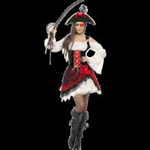 Glammig kvinnlig piratdräkt