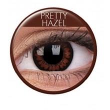 Färgade linser big eyes pretty hazel