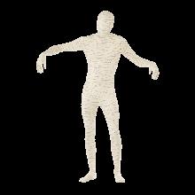 Mumie andra hudlager-dräkt