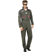 Top Gun Deluxe Kostym Man