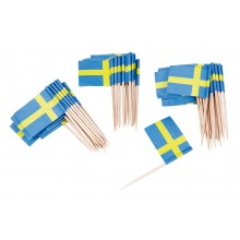 Cocktailflagga Sverige 50-pack