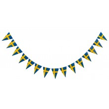 Girlang Svensk Flagga Triangel