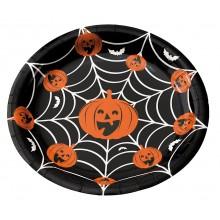 Tallrikar Halloween 8-pack