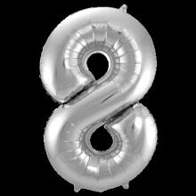 Jumbo Sifferballong Silver 8