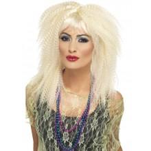 80-tals Peruk Blonda Lockar