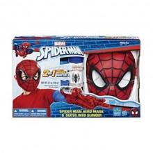 Spiderman Mask och Spindelnät Skjutare