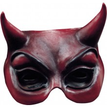 Djävulsmask Röd Halv