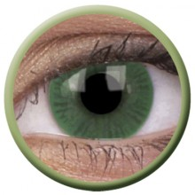 Färgade linser grön