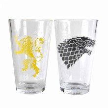 Game Of Thrones Glas Stark & Lannister 2-pack
