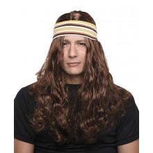 Peruk Med Hårband Hippie