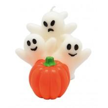Ljus Halloween Spöken Med Pumpa