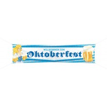 Banderoll Willkommen Zum Oktoberfest 180x40 cm