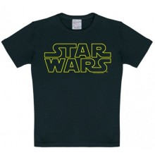 Star Wars Logo T-Shirt Barn Svart