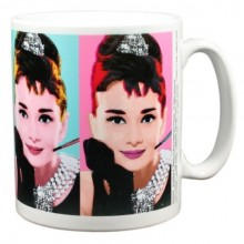 Audrey Hepburn Mugg Popart