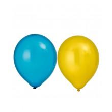 Ballonger Metallic Gul/Blå 8-pack