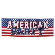 Banderoll USA American Party 74x220 cm