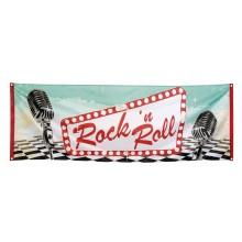 Banderoll Rock 50-tal 74x220 cm