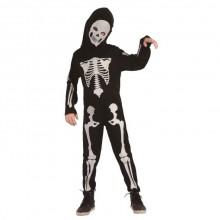 Barndräkt Skelett Vit