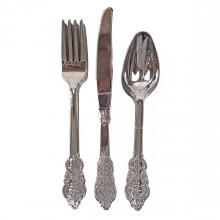 Bestick Elegant Silver 18-pack