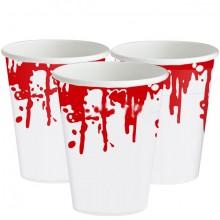 Plastmugg Blodstänk 25-pack