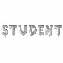 Bokstavsballonger Student Silver