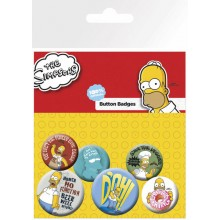 the Simpsons knappar 6-pack Homer