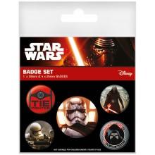 Star Wars Episode VII First Order Badges 5-pack